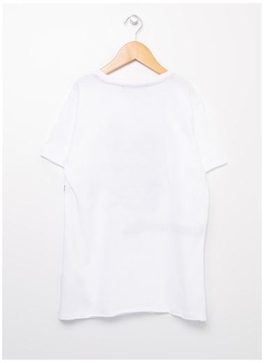Funky Rocks Funky Rocks Erkek Bisiklet Yaka Beyaz T-Shirt Beyaz